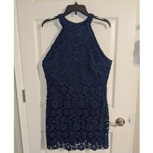 Women's navy lace dress